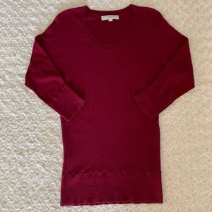 LOFT cranberry red top